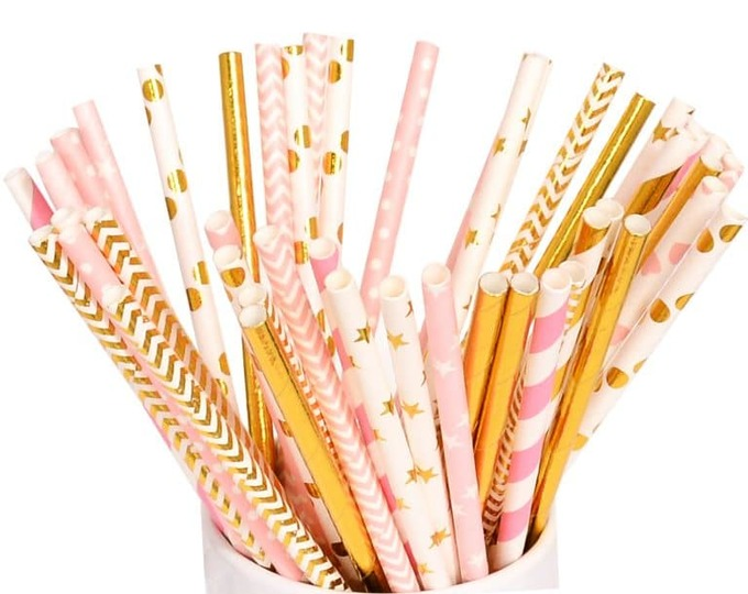 Hiware 200-Pack Paper Straws