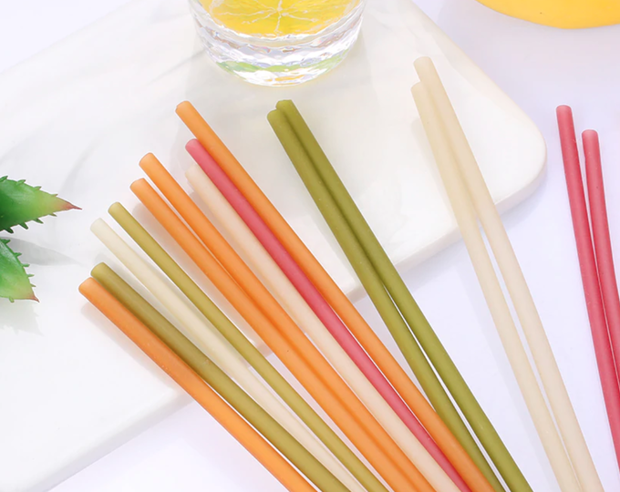 Edible Rice Drinking Straws - Color-Pack of 120